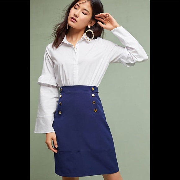 d79d231e204a9d Anthropologie Skirts | Della Bee Buttoned Pencil Skirt | Poshmark